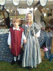 Grandkids Henry and Alice as Early Americans!